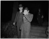 Donald Rogers with Det. Lt. Fred Trosper, Los Angeles, 1940