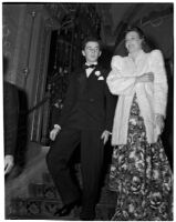 Actors Freddie Bartholomew and Wendy Barrie at a charity ball and dinner held at the Biltmore Hotel, Los Angeles, February 11, 1940