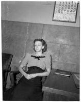 Betty Hardaker during her murder trial,  Los Angeles, 1940