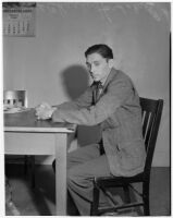 Charles Hardaker, husband of Betty Flay Hardaker who was convicted of murdering their daughter, Los Angeles, 1940
