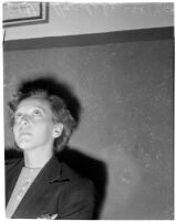 Portrait of Betty Flay Hardaker, mother convicted of murdering her daughter, Los Angeles, 1940