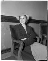 Margaret Ballard seated in a chair, Los Angeles, 1930s