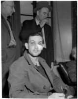 "John Frank Reavis awaiting the decision on his indictment for the murder of Alice ""Jerry"" Burns, Los Angeles, February 28, 1940"