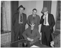 Accused murderer John Frank Reavis awaits the decision on his indictment, Los Angeles, February 28, 1940