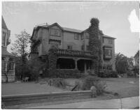 USC Kappa Alpha fraternity house located on West Adams street, Los Angeles, 1940