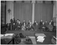 Jury selected for the William Bonelli liquor license bribe trial, Los Angeles, February 19, 1940