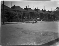 """Housing on Ann St.; the subject of a proposed city """"slum clearance"""" ordinance, Los Angeles, February 1940"""