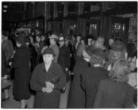 Crowd during the semiannual Dollar Day sale in downtown Los Angeles, February 17, 1940