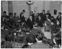 State Relief Administrator Walter Chambers addressing members of the Worker's Alliance, Los Angeles, February 27, 1940