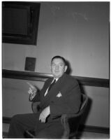 State Liquor Administrator George M. Stout at the liquor license bribe trial, Los Angeles, March 4, 1940