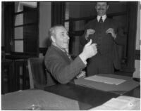 Financier F.W. Leistikow, victim of wrongful taxation, Los Angeles, October 6, 1943