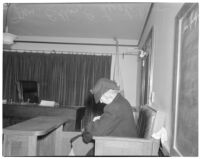 Esther E. Leistikow testifying about wrongful taxation, Los Angeles, October 6, 1943