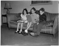 Connie Kreinman, Naomi Jaffe, and Allan Bernard during Child Welfare Day at the Beverly Hills Athletic Club, Beverly Hills, March 2, 1940