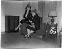 Mrs. Arch Murdock and Mrs. George A. Dudley, Los Angeles, 1940