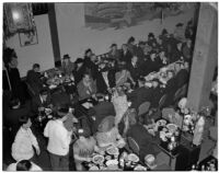 Patrons at the Forbidden Palace restaurant in Chinatown, Los Angeles, 1930s