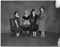 Mrs. A. Julliard Hall, Mrs. Oscar C. Wilcox, Mrs. Priestly A. Horton, and Mrs. Glynn C. Ellsworth, Los Angeles, circa 1940