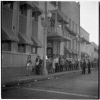 Police and strikers outside RKO Pictures during the Conference of Studio Unions strike, Los Angeles, October 19, 1945