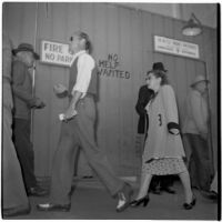 Strikers outside RKO Pictures during the Conference of Studio Unions strike against all Hollywood studios, Los Angeles, October 19, 1945