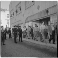Police and strikers during the Conference of Studio Unions strike against all Hollywood studios, Los Angeles, October 19, 1945