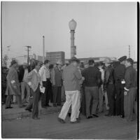 Strikers during the Conference of Studio Unions strike against all Hollywood Studios, Los Angeles, October 19, 1945