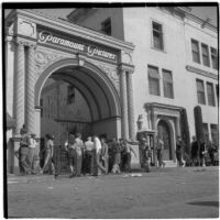 Strikers outside Paramount Pictures during the Conference of Studio Unions strike against all Hollywood studios, Los Angeles, October 19, 1945