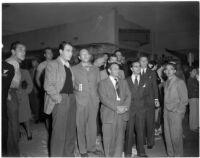 AFL-CSU members during their strike against all Hollywood studios, Los Angeles, 1945