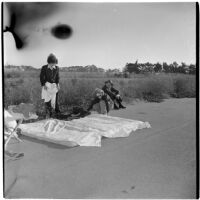 Veterans camping out at Port Hueneme for a Quonset hut and surplus military supply sale, Port Hueneme, July 15, 1946