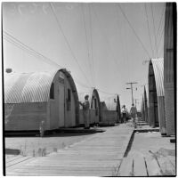 Veterans at Port Hueneme for a Quonset hut and surplus military supply sale, Port Hueneme, July 15, 1946