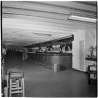 Bar on Tony Cornero's newly refurbished gambling ship, the Bunker Hill, or Lux, Los Angeles, 1946
