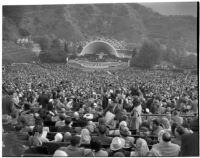 Easter Sunday sunrise service at the Hollywood Bowl, Los Angeles, 1930s