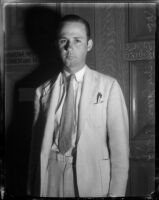 Portrait of attorney William Moseley Jones, Los Angeles, 1930s