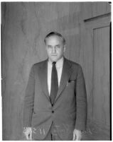 Portrait of artist Leo Katz wearing a suit and tie, Los Angeles, 1935