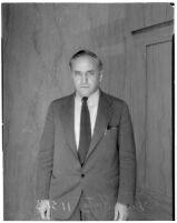 Portrait of artist Leo Katz wearing a suit and tie, Los Angeles, 1935