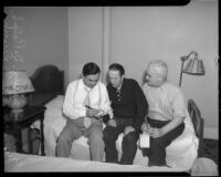 Eugene Biscailuz, Dr. Ralph Wagner, and J.E.P Dunn, Los Angeles, 1930s