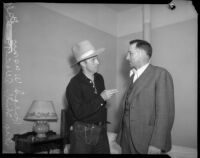 Dr. Ralph Wagner pictured with Deputy Sheriff Allen T. Ball, Los Angeles, 1930s