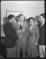 Judge Benjamin J. Scheinman marries Bobby Burns Berman and Betty Jane Hardesty, Los Angeles, 1935