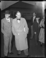 Actors John and Lionel Barrymore, Los Angeles, 1930s