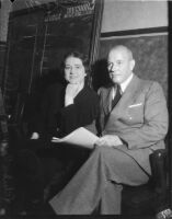 Evangelist Rheba Crawford with her attorney, Los Angeles, 1935