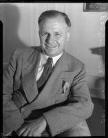 Portrait of federal judge James Francis Thaddeus O'Connor, Los Angeles, 1930s