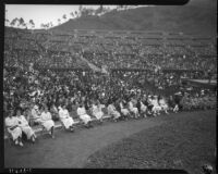 Audience gathered at the Hollywood Bowl to hear Eleanor Roosevelt speak, Los Angeles, 1935