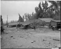 Houses damaged by flooding, Ontario, 1938
