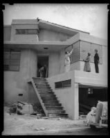 Mansion under construction, Los Angeles, 1936