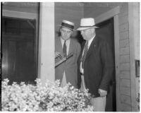 Detective Lieutenant Leroy E. Sanderson and Captain Bert Wallis, Los Angeles, 1930s