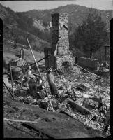Wildfire damage, Malibu, 1936