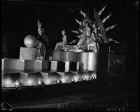 Electrical-themed float created for the Hoover Dam Power Inaugural, Los Angeles, 1936
