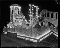 Floral-themed float created for the Hoover Dam Power Inaugural, Los Angeles, 1936