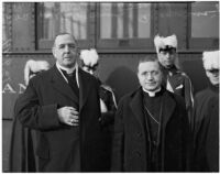 John Joseph Cantwell, newl Archbishop of the Roman Catholic Province of Los Angeles, with Amleto Giovanni Cicognani, Los Angeles, 1936