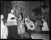 John Joseph Cantwell being appointed archbishop at the Cathedral of St. Vibiana, Los Angeles, 1936