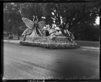 Santa Clara County parade float for Tournament of Roses, Pasadena, 1937