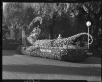 """The Honeymoon"" float at the Tournament of Roses, Pasadena, 1937"